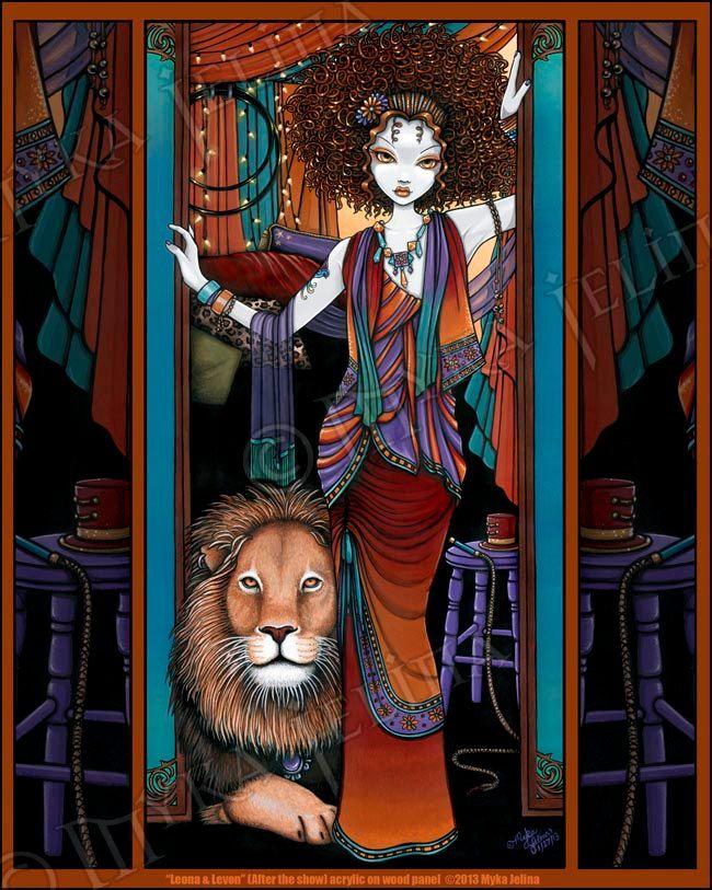 Leona Levon Bohemian Lion Tamer Circus Fairy Art by MykaJelina