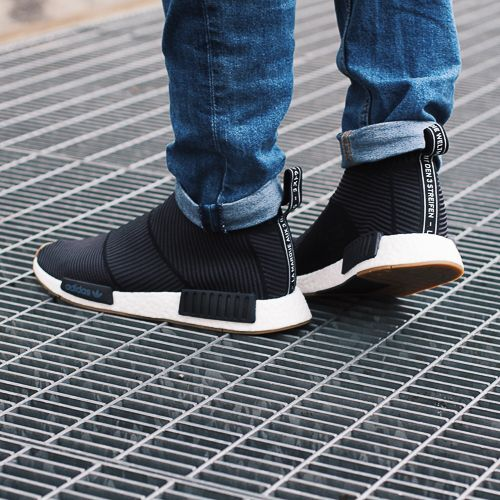 Adidas Originals NMD CS1 black gum. Harper Store