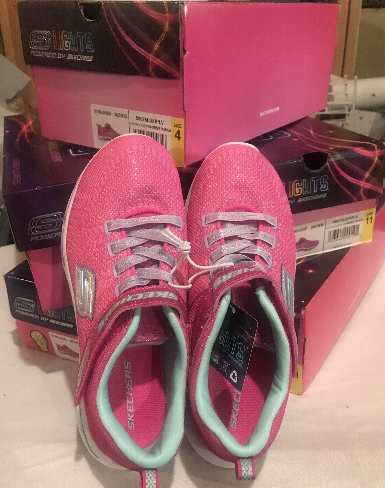 Youth Lightbeam Sneaker Shoes Pink Size