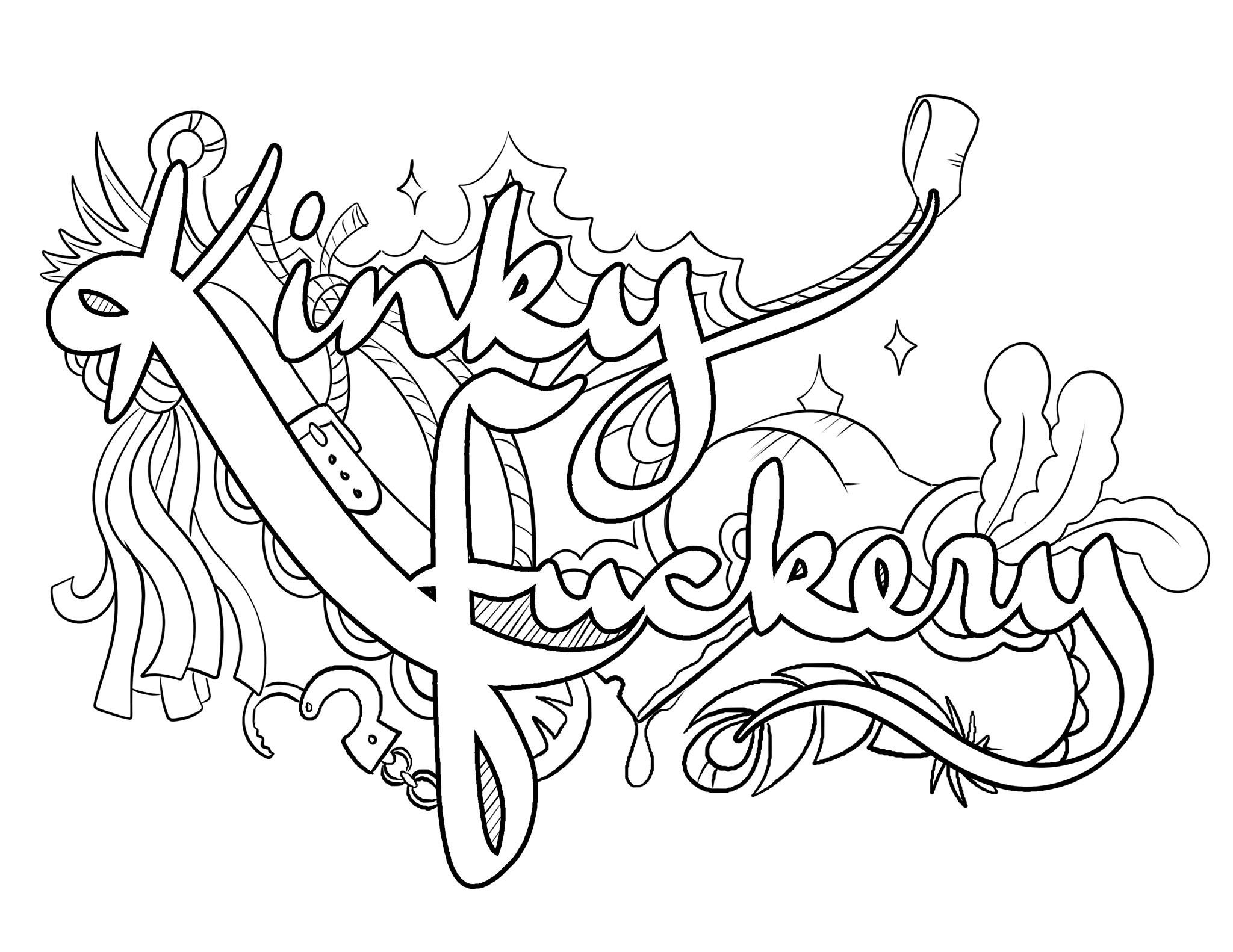 This is a picture of Impertinent dirty word coloring book