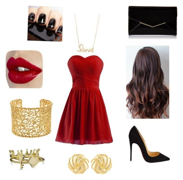 """""""A night out"""" by xxrhianxx on Polyvore featuring Christian Louboutin, Furla, Sydney Evan, Brooks Brothers, Bling Jewelry and Susan Shaw"""