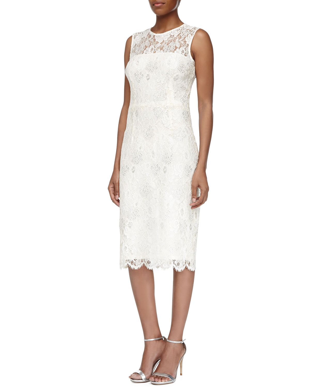 Sleeveless Illusion Lace Cocktail Dress | Lace cocktail dresses ...