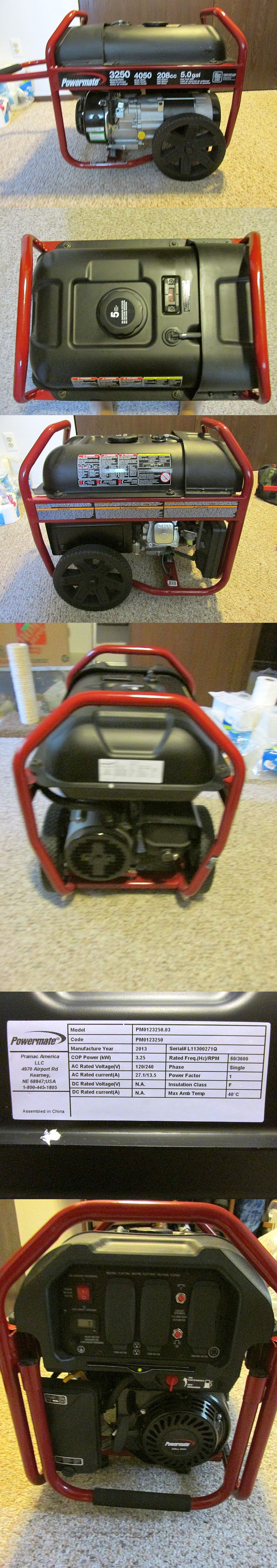 Powermate 3250 Portable Generator used only once clock shows 07