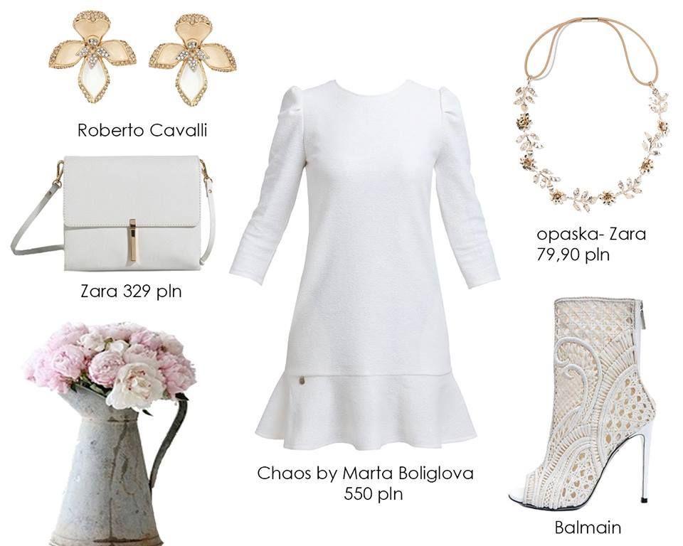 Sukienka Biel Chaos By Marta Boliglova Roz S 5023324391 Oficjalne Archiwum Allegro Roz Fashion Zara