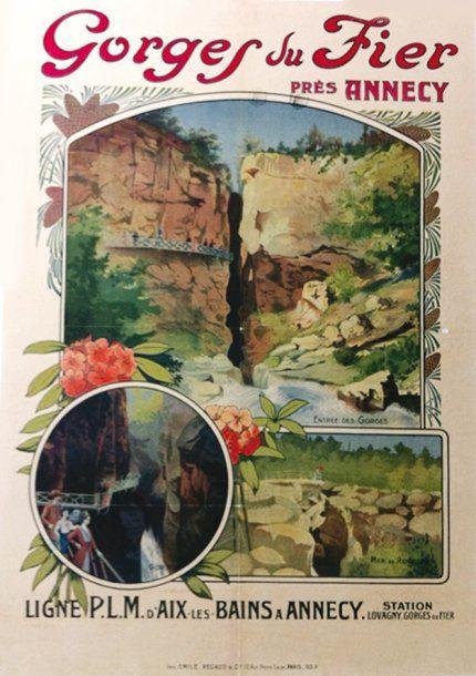 PLM - Gorges du Fier près d'Annecy - illustration de Biliotti -