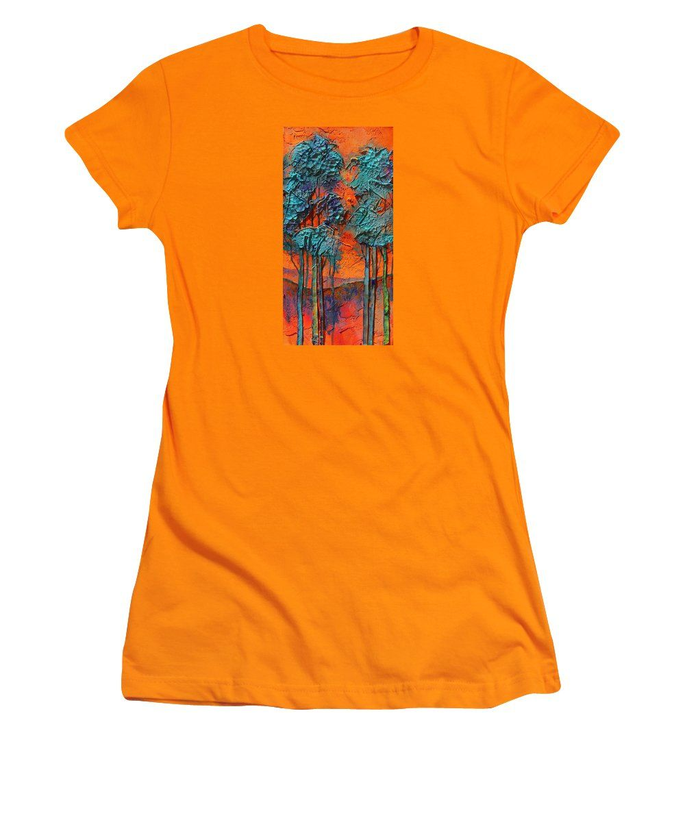 Purchase a junior t-shirt featuring the image of Summer Love by Carol  Nelson.  Available in sizes S - XXL.  Each t-shirt is printed on-demand, ships within 1 - 2 business days, and comes with a 30-day money-back guarantee.