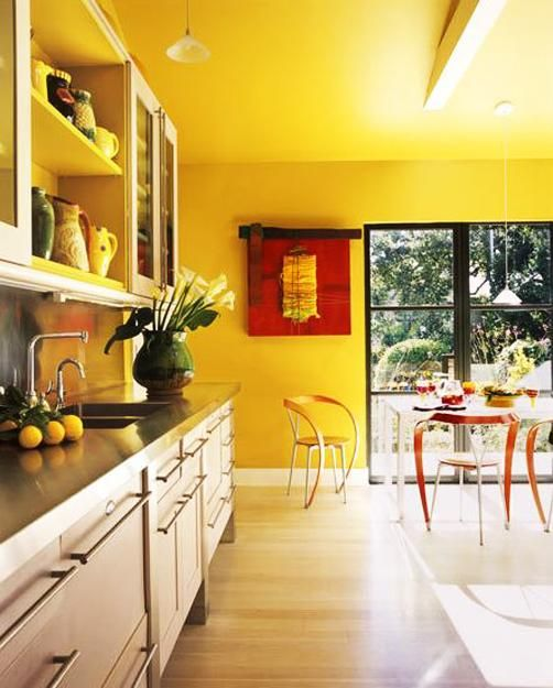 25 dazzling interior design and decorating ideas modern yellow color combinations with images on kitchen remodel yellow walls id=66500