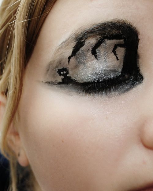 Nerd Makeup of the Day:   copiouslygeeky:  Limbo: Make-up Edition  Created by This Person