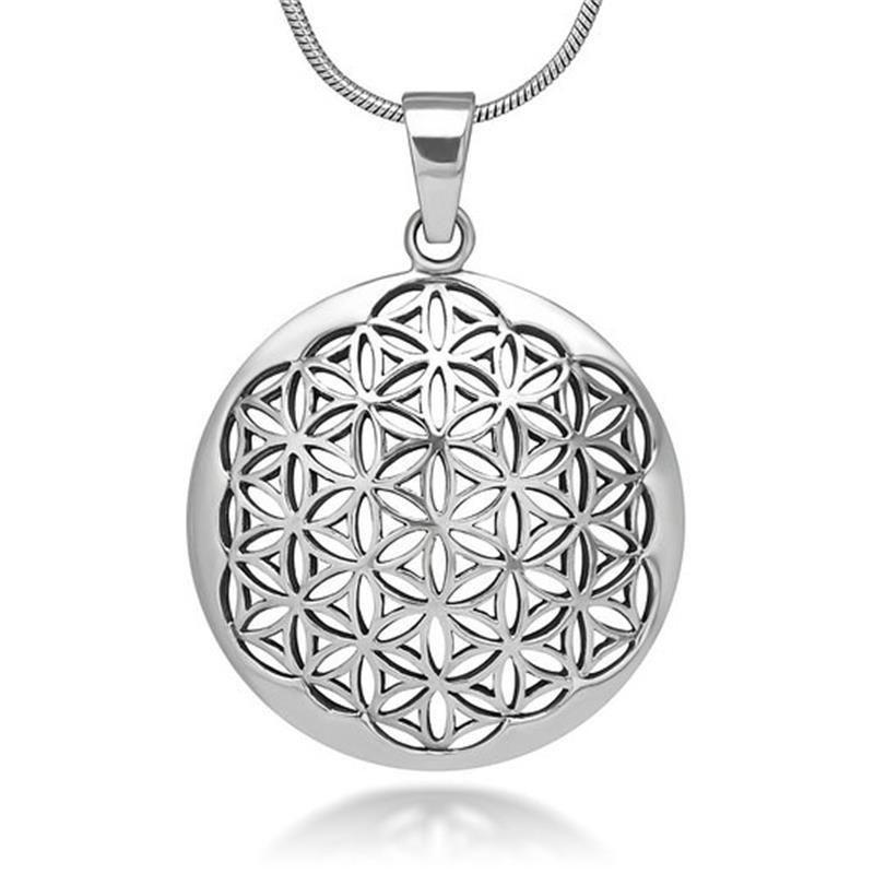 Details Utilisez La Puissance De La Geometrie Sacre Pour Attirer L Abondance Et Vivre Da Mandala Necklace Sacred Geometry Jewelry Heart Shaped Pendant Necklace