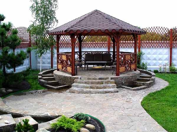 Backyard Gazebo Ideas the ceiling of this gazebo is lighted giving the area a soft glow so that 22 Beautiful Metal Gazebo And Wooden Gazebo Designs