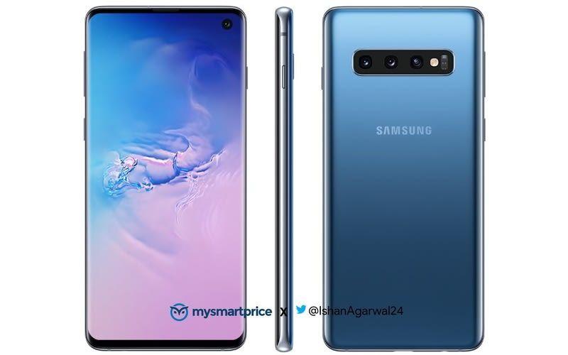 Samsung Galaxy S10 Galaxy S10e Shown Off In New Blue Color Renders Samsung Galaxy Samsung Galaxy