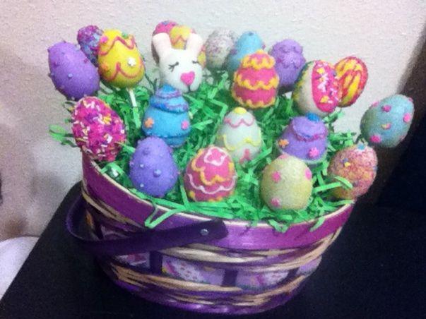 Easter cakepop basket