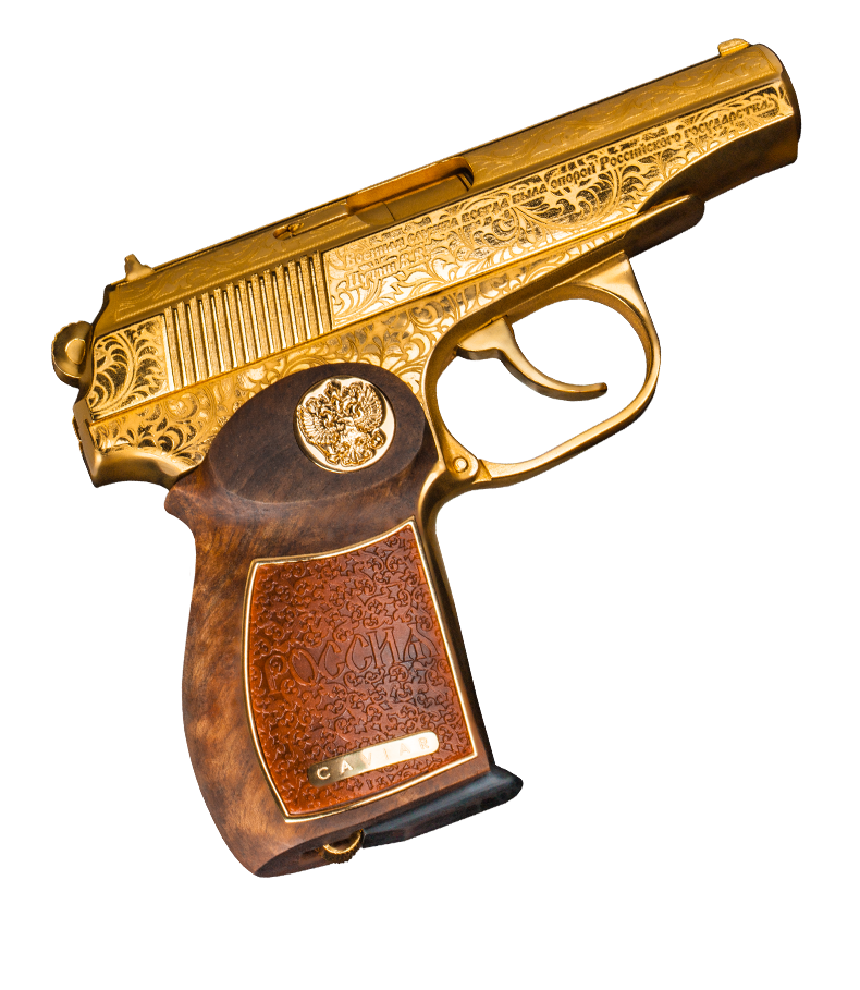 Купить золотой пистолет Макарова от Caviar