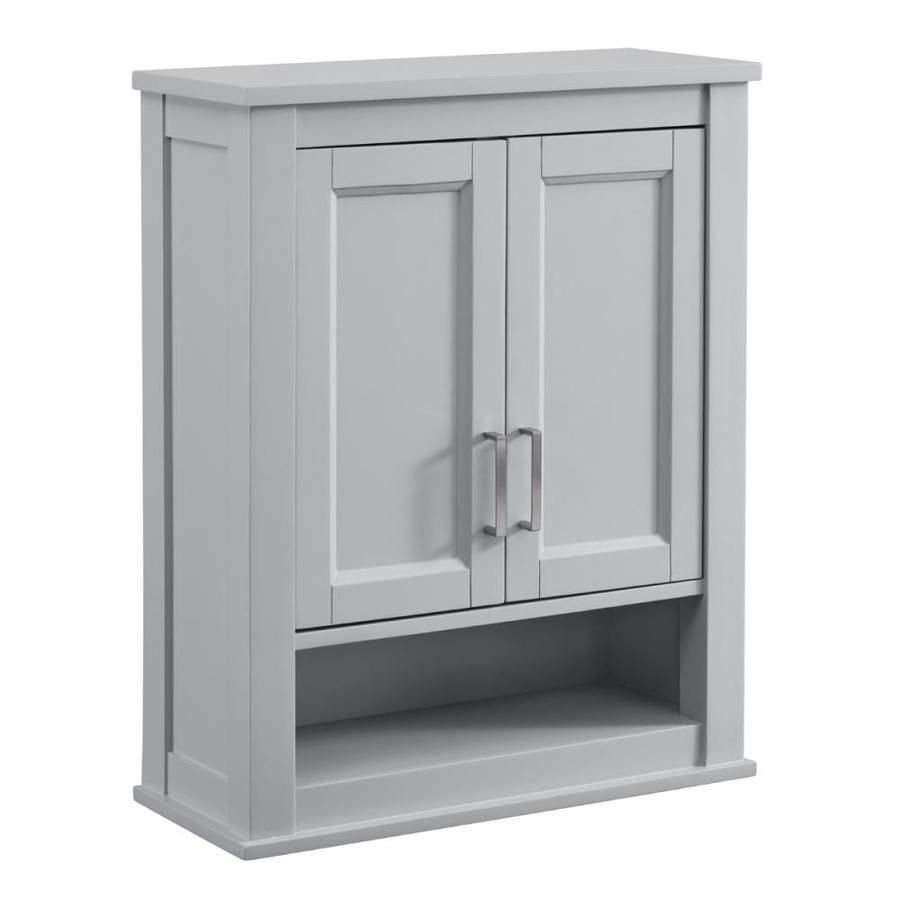 Scott Living Durham 24-in W x 30-in H x 10-in D Light Gray Bathroom ...