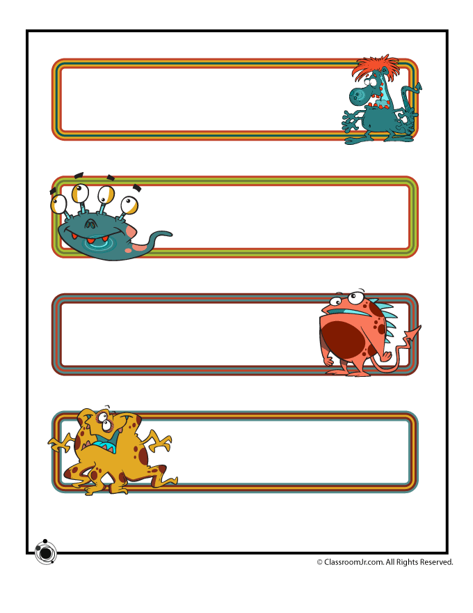 Free Classroom Decoration Templates ~ Printable name cards and bulletin board decorations