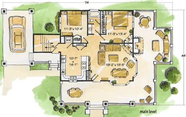 Plan 11523kn Cozy Cottage Small Cottage House Plans Cottage Floor Plans Small Cottage Homes