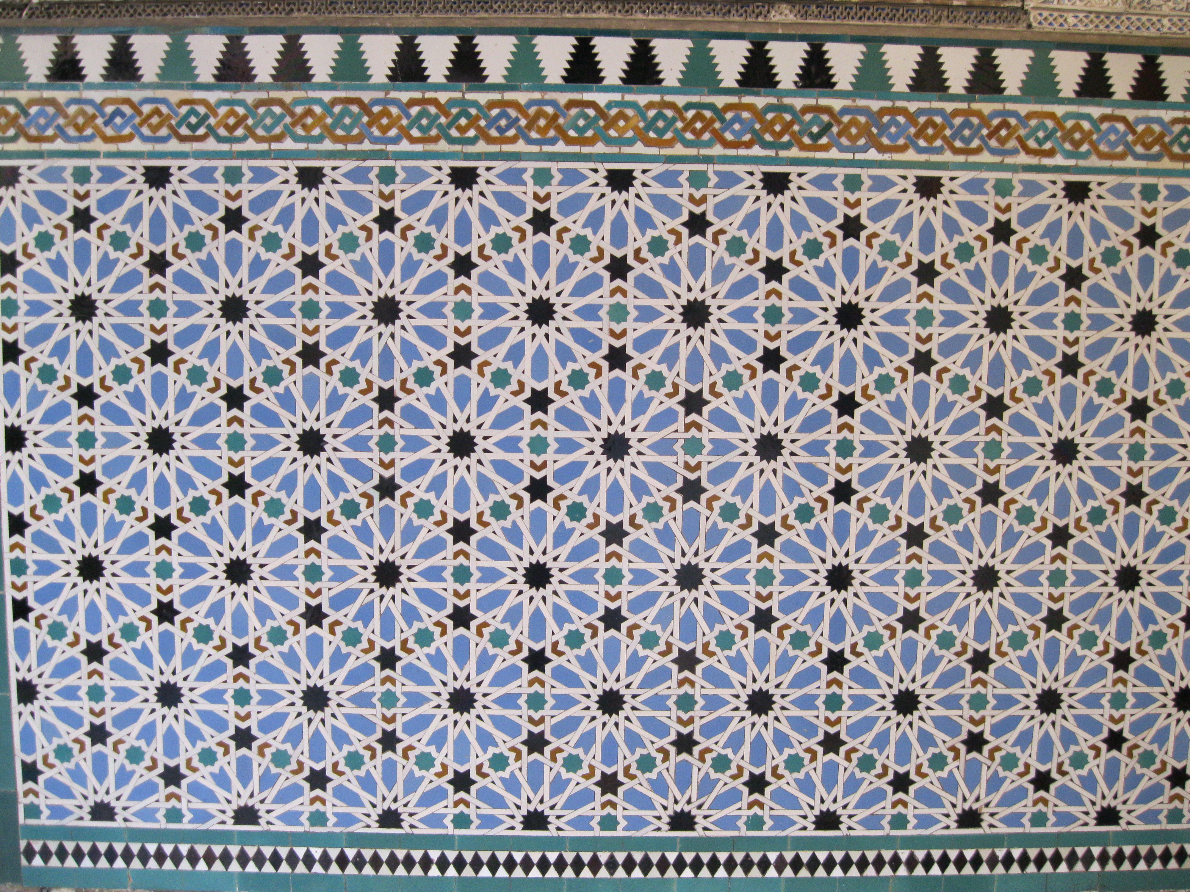 Tile In The Alhambra Mosaico Azulejos Ladrilho