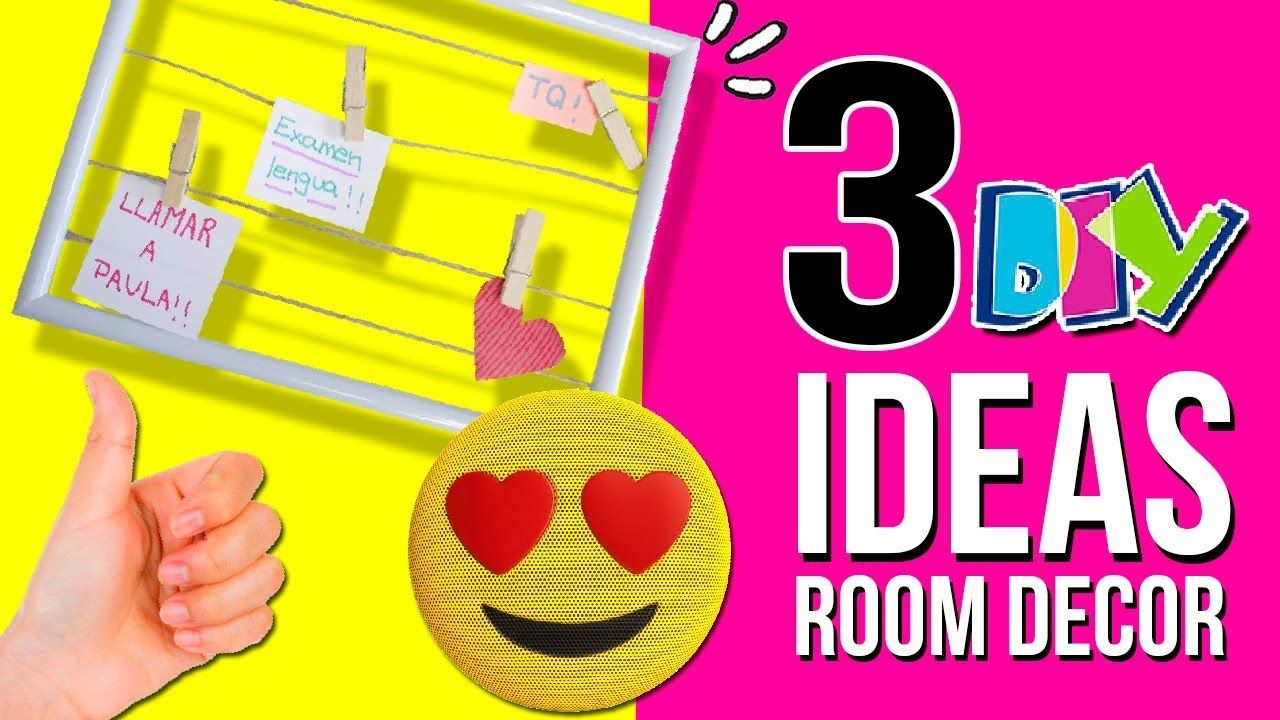 3 IDEAS fáciles y Baratas para decorar tu HABITACIÓN * DIY ... on Room Decor Manualidades Para Decorar Tu Cuarto id=87420