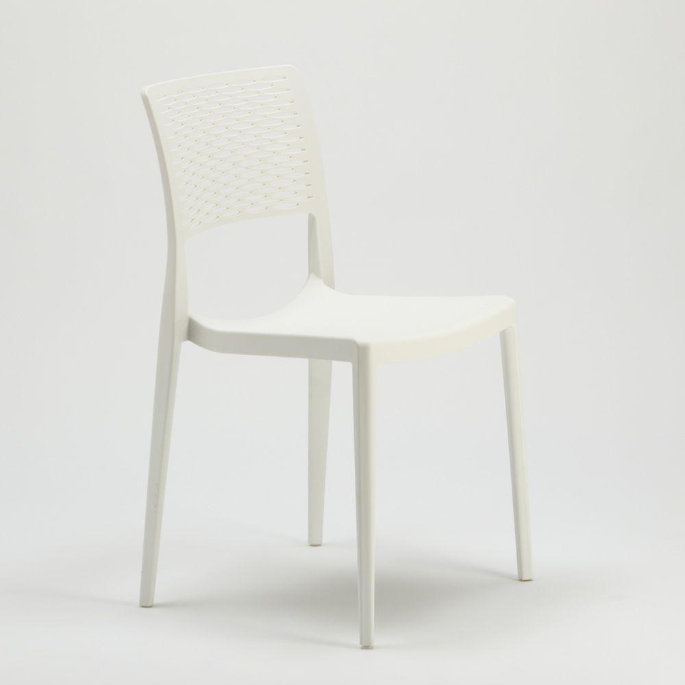 Sedia Da Bar In Polipropilene Per Cucina E Giardino Impilabile Cross Chaise Salle A Manger Chaise Cuisine Chaise Design