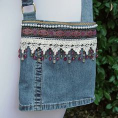 craft made out of recycled junk jewelery stands | Mandella's and Dream Catchers – The Jean Purse – Call of the Wild: #recycledcrafts
