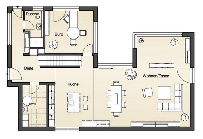 Traumhaussuche Haus grundriss, Haus, Flachdachhaus