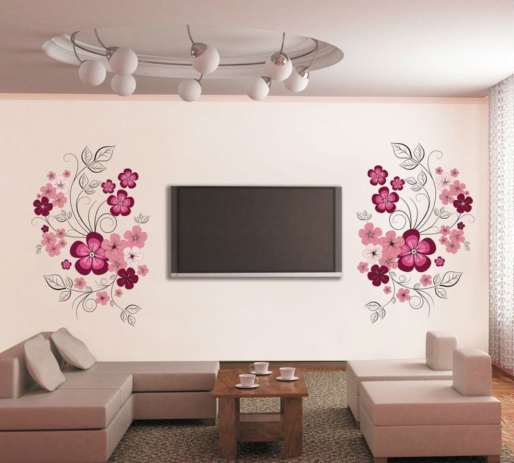 Giant flower wall decals stickers flowers home