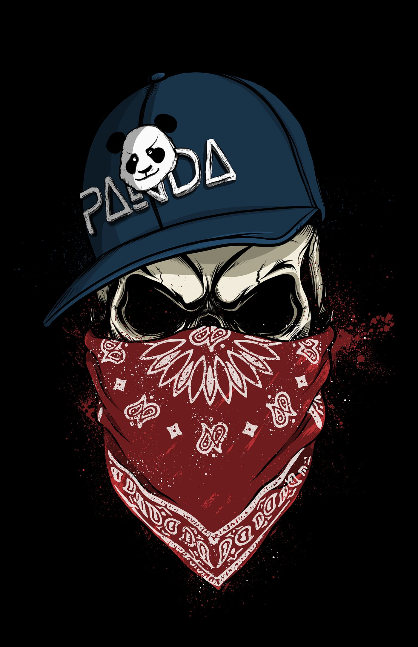 Skull Panda on Behance Arte Com Caveira 292082fd6b1