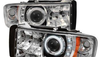 Dodge Ram 1994 1995 1996 1997 1998 1999 2000 2001 1pc Ccfl Led Projector Headlights Chrome Projector Headlights Dodge Ram