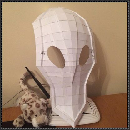 dota 2 rubick the grand magus mask ver 2 free papercraft