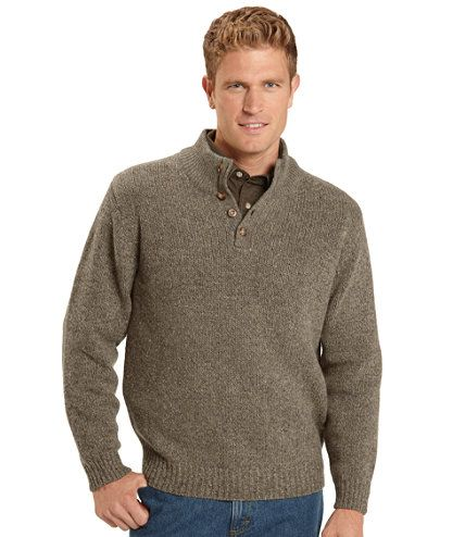 Ragg Wool Sweater, Button Mock: Henleys and Zip-Necks | Free ...