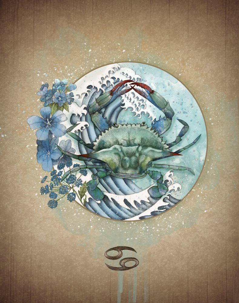 Pin by andrea bowman on tatts cancer zodiac art zodiac