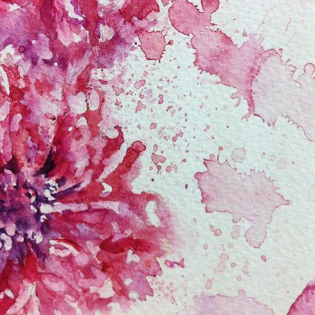 paint watercolour passion flower - Google Search