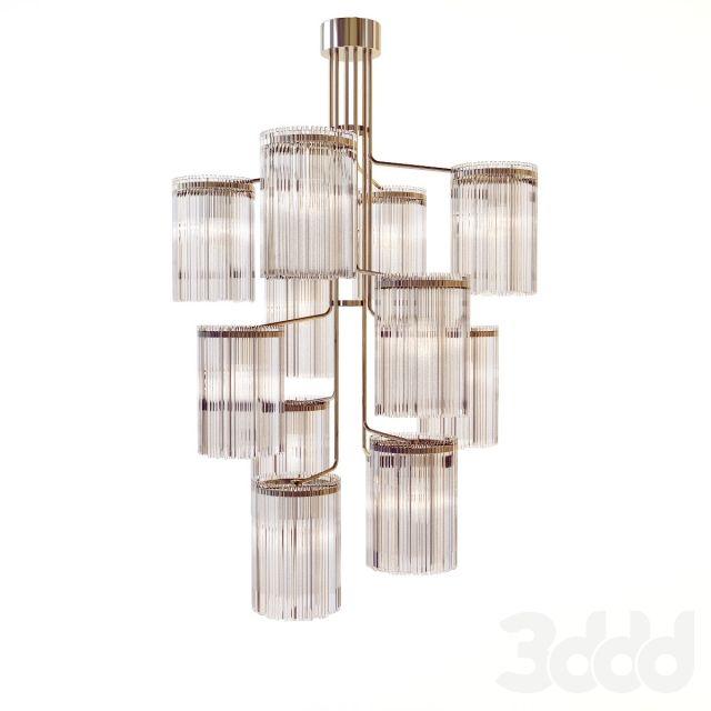 Van den Akker - Large twelve light hanging   eetkamer lamp ...