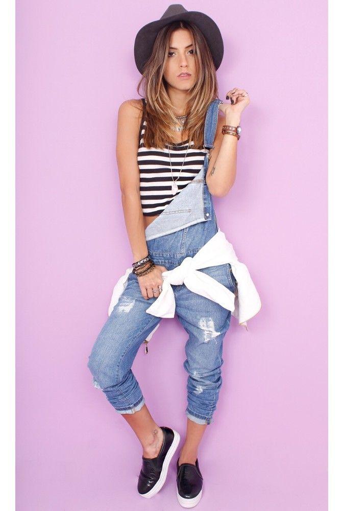 Jardineira Pants Jeans - fashioncloset