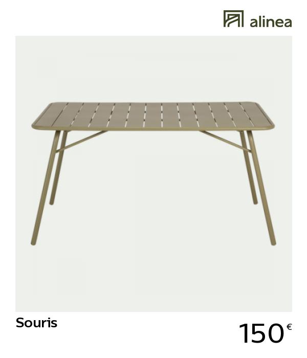 alinea #decoration souris table de jardin pliante en acier ...