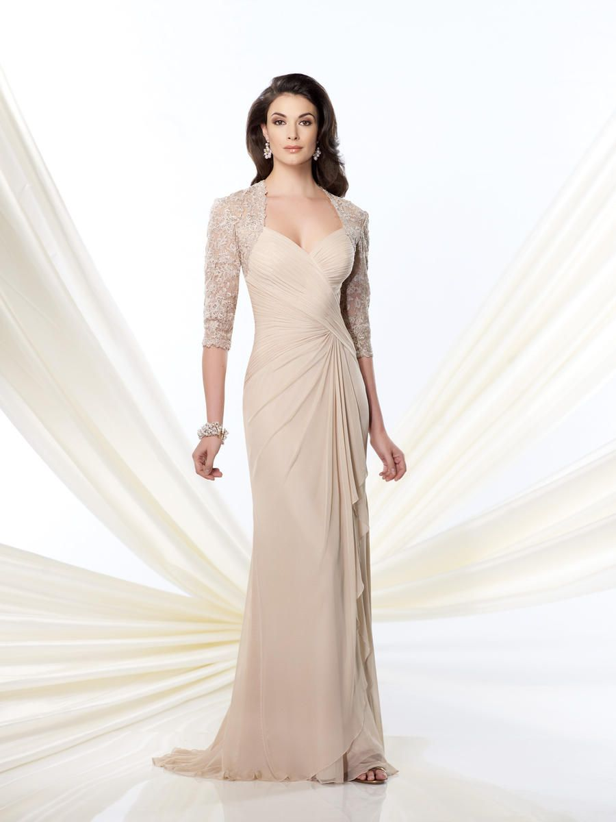Mothers dresses for a wedding  Montage  by Mon Cheri Illusion Lace Formal Dress  Weddings