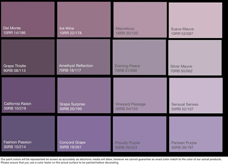 Dulux Paint Chart Purple Google Search