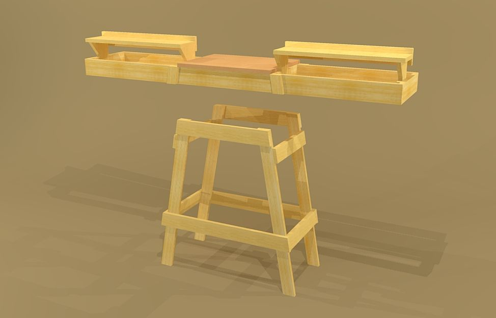 Portable miter saw stand plans google search for Table saw workbench woodworking plans