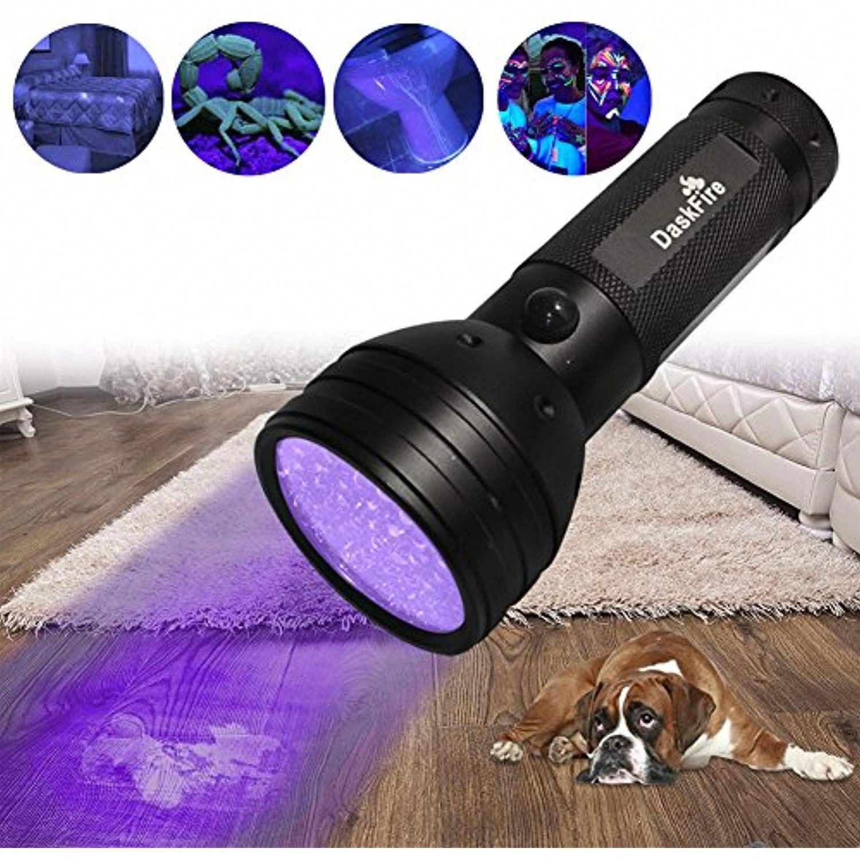 Daskfire Ultraviolet Flashlight Blacklight Flashlight 51 Led Uv Lights For Pet Dog Cat Urine Stain Detector Or Bed Bugs Sc Pest Control Cat Urine Urine Stains