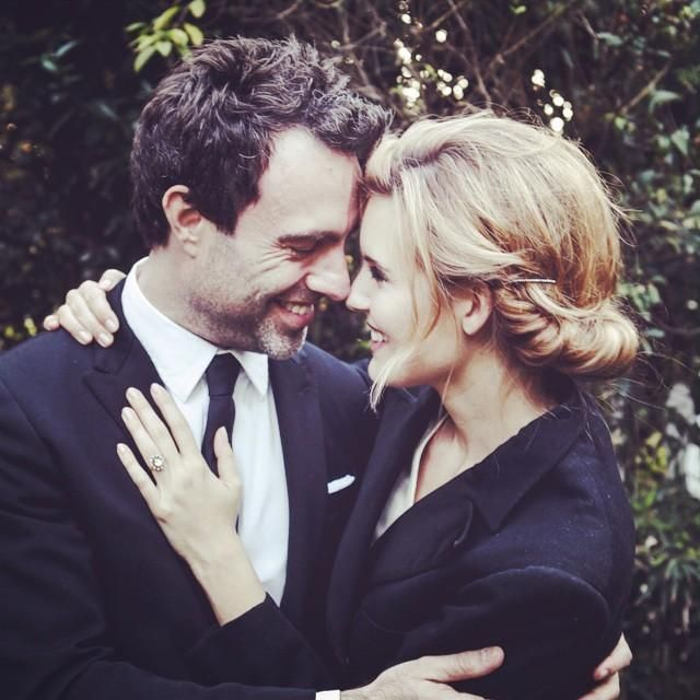 """Maggie Grace, with fiancé Matthew Cooke: """"'The minute I heard my first love story, I started looking for you, not knowing how blind that was. Lovers do not finally meet somewhere. They are in each other all along.' ~Rumi Matthew Cooke & I are so excited to share our engagement with you guys! I could not feel more grateful to share my life with this incredible man."""