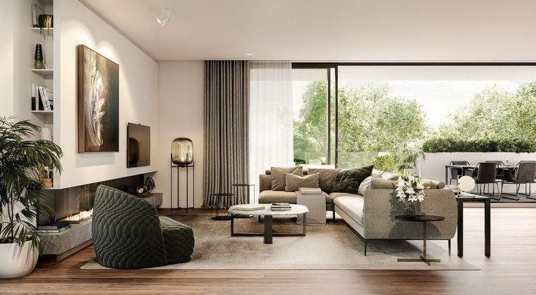 Salon Design Deco Fauteuil Canape Coussins Mur Tableaux Luxurylivingroom  Also Rh Pinterest