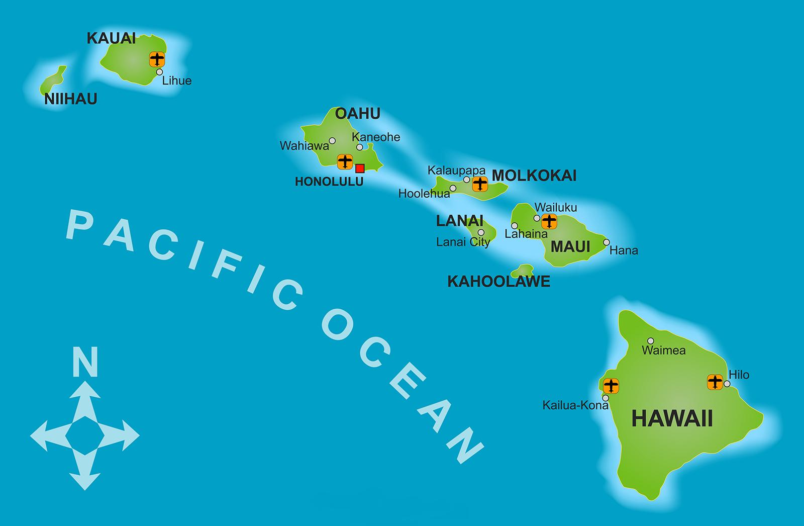 hawaii pacific ocean map Hawaii Us State Central Pacific Ocean Map Of Hawaii Hawaii hawaii pacific ocean map