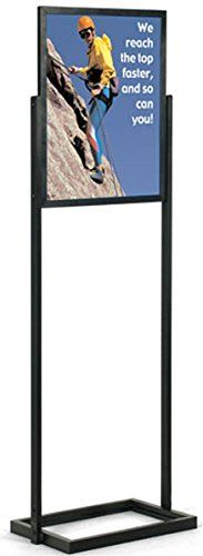 Displays2go Black FreeStanding Poster Frame 2012 x 67 x 15Inch DoubleSided TopLoading Lightweight MFPH1824BK * For more information, visit image link.Note:It is affiliate link to Amazon.