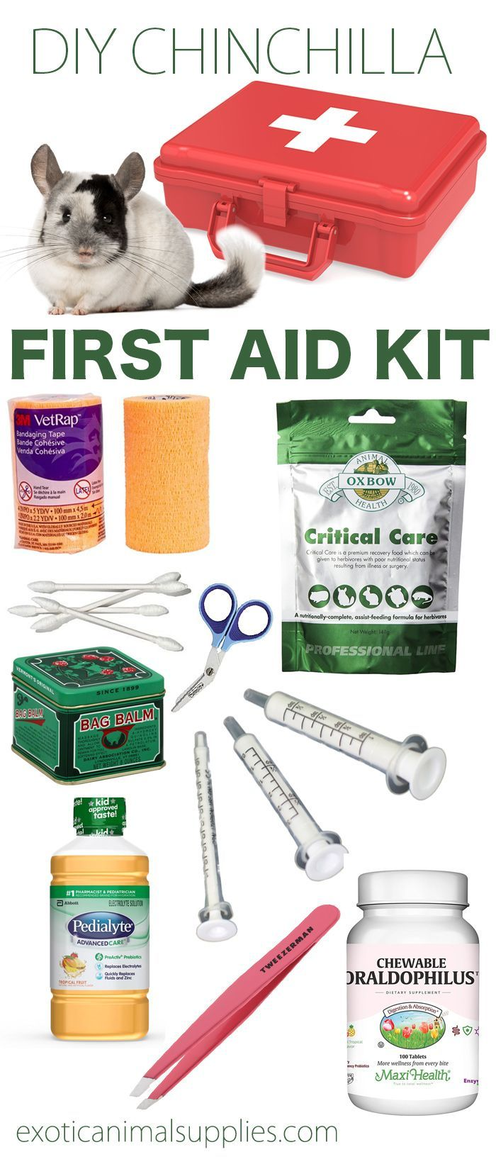 Chinchilla First Aid Kit for Emergencies - Exotic Animal Supplies