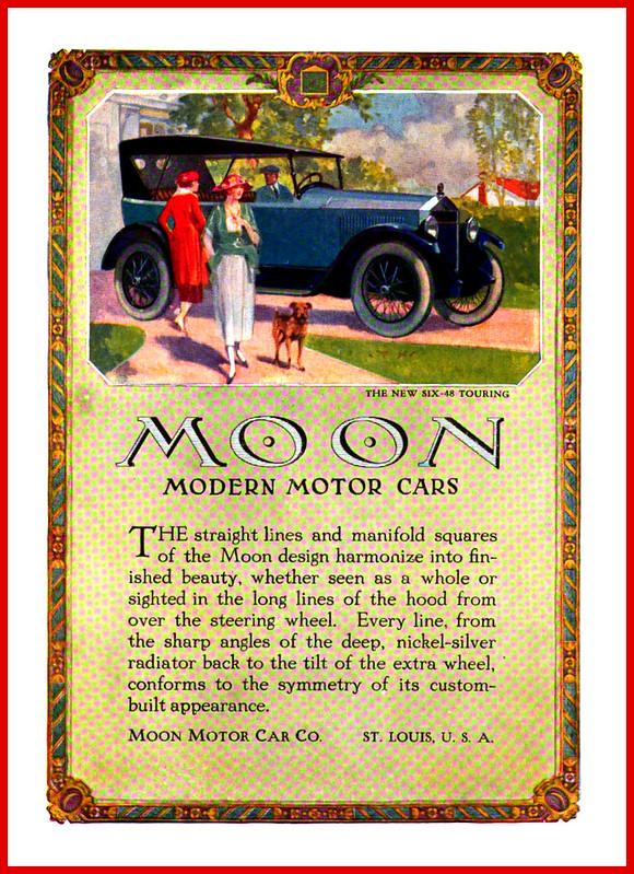 1920 Moon Modern Motor Cars Six 48 Moon Motor Cars Co St Louis Mo