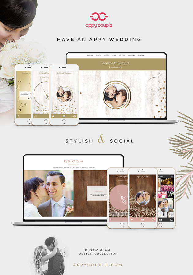 appycouple get yourself set up with a stylish wedding website and
