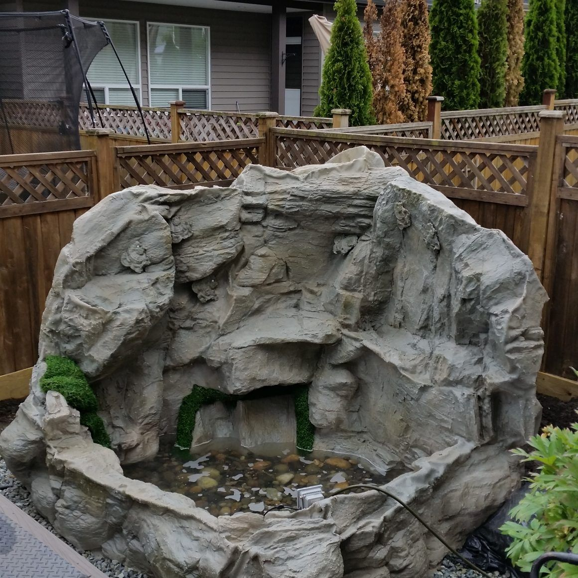 Rocky Waterfall Custom Artificial Rock Waterfalls Vancouver Bc