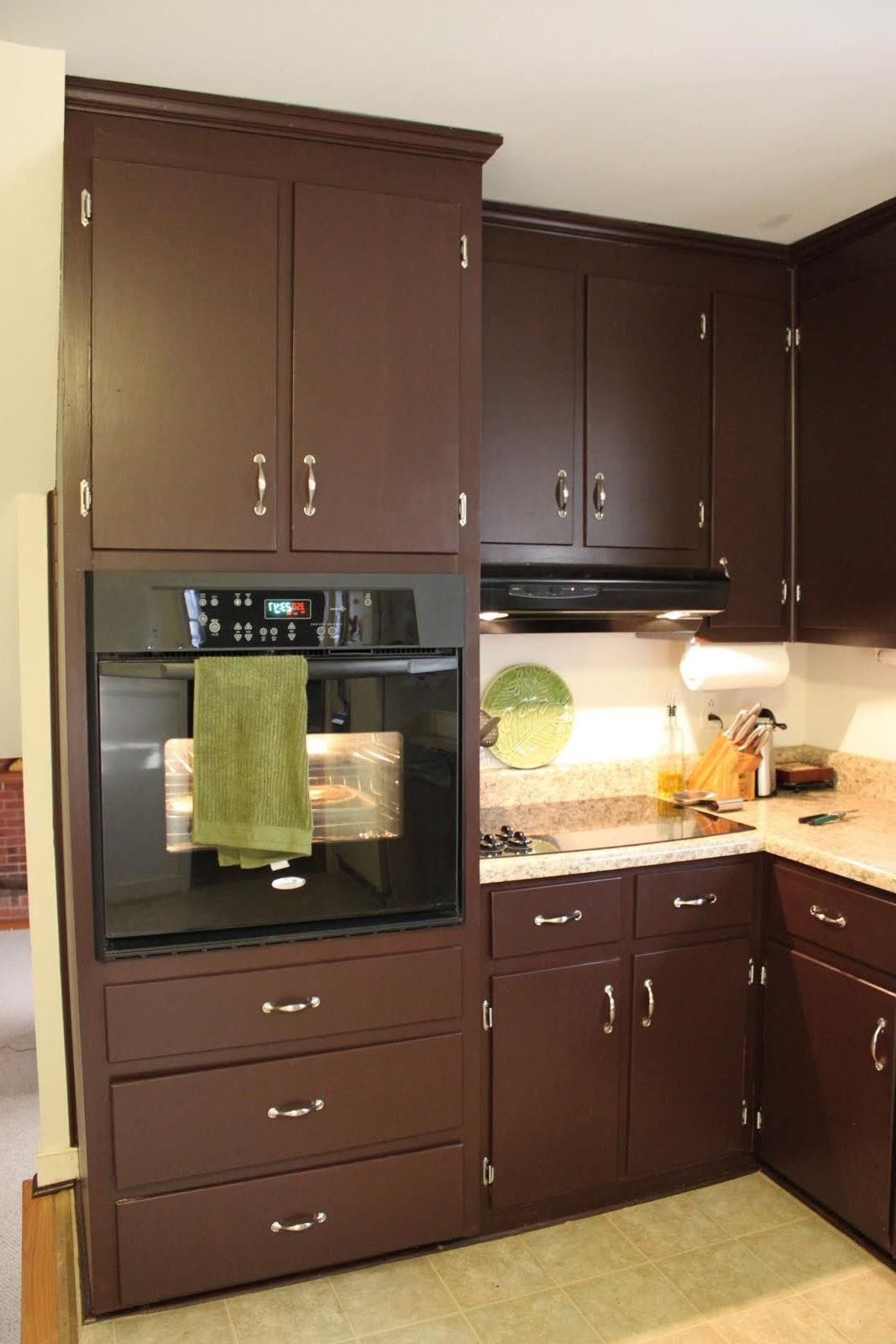 Chocolate Brown Painted Kitchen Cabinets Painting Kitchen Cabinets Wooden Cabinets Kitchen Paint