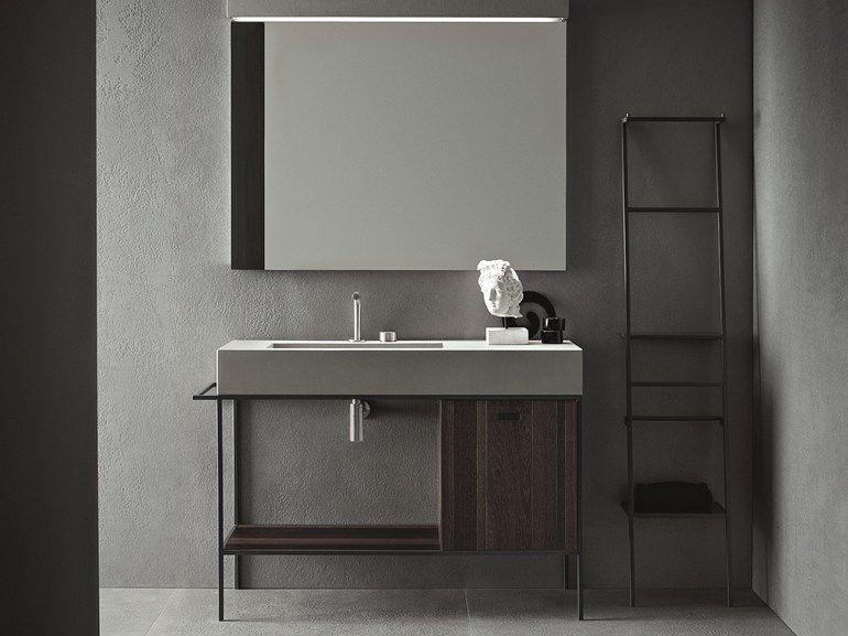 Bathroom furniture set CRAFT - COMPOSITION N03 Craft Collection by NOVELLO   design Stefano Cavazzana