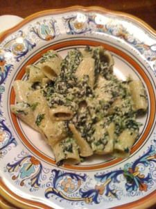 Rigatoni con spinaci e ricotta (Rigatoni with Spinach and Ricotta)   Memorie di Angelina
